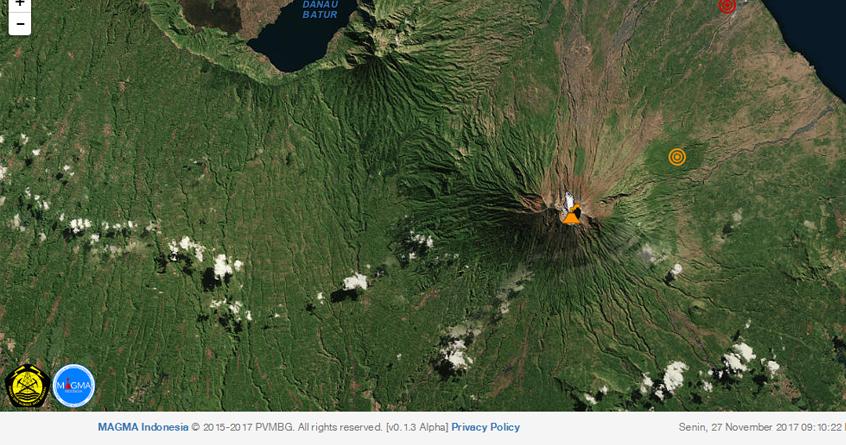 Gambar Gunung Agung Bali, Peta Gunung Agung Bali,