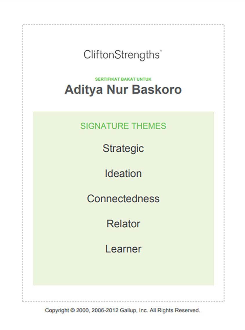 Sertifikat-Bakat-Aditya-Nur-Baskoro,-Gallup,-Tes-Bakat-online,-Tes-Kepribadian, cara mengenali diri
