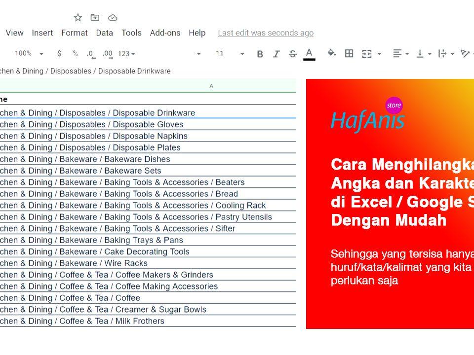 Cara Menghilangkan Angka di Excel atau Google Sheet Dengan Mudah dan Cepat