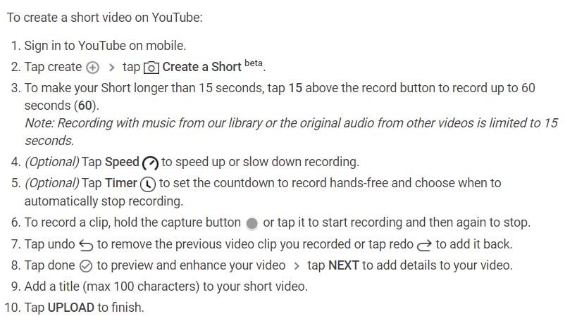 Cara Membuat Video Short di Youtube